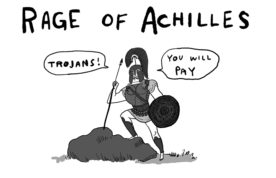 Rage of Achilles by Kate Beaton