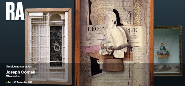 Joseph Cornell exhibit at the Royal Academy of Arts
