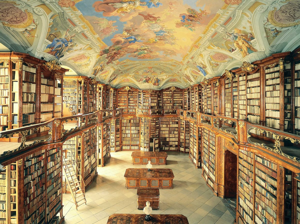The Admont Library in Admont, Austria