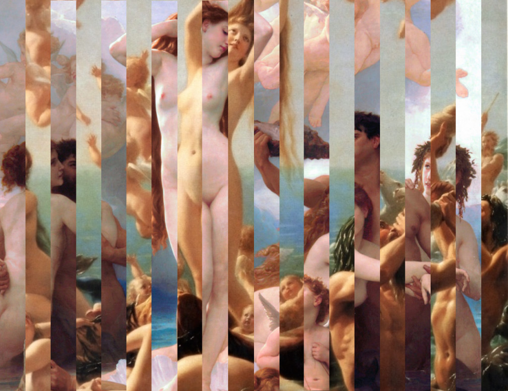 The Birth of Venus by Sandro Botticelli & Fritz Zuber-Bühler (1486, 1887)