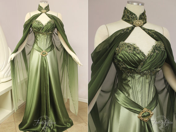 Elven Bridal Gown by The Firefly Path (via)