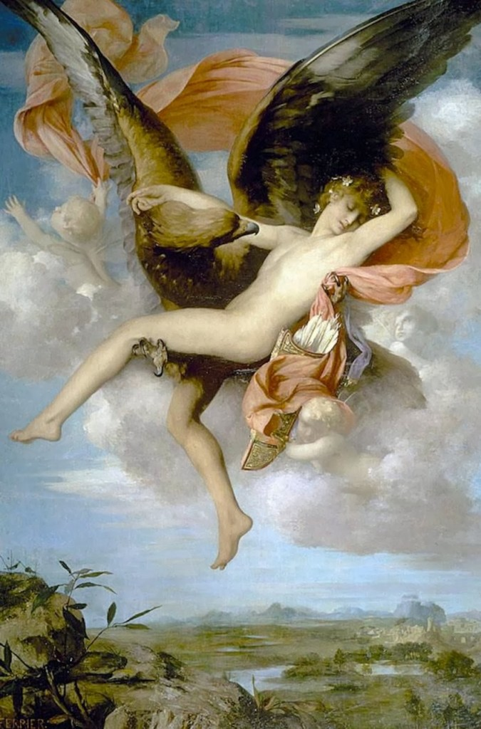 Ganymede (1874) by Gabriel Joseph Marie Augustin Ferrier--the least abduction-y abduction