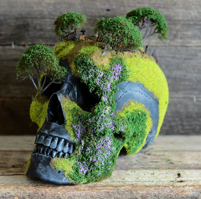 Grave Yard Bosai Skull by Andrew Firth